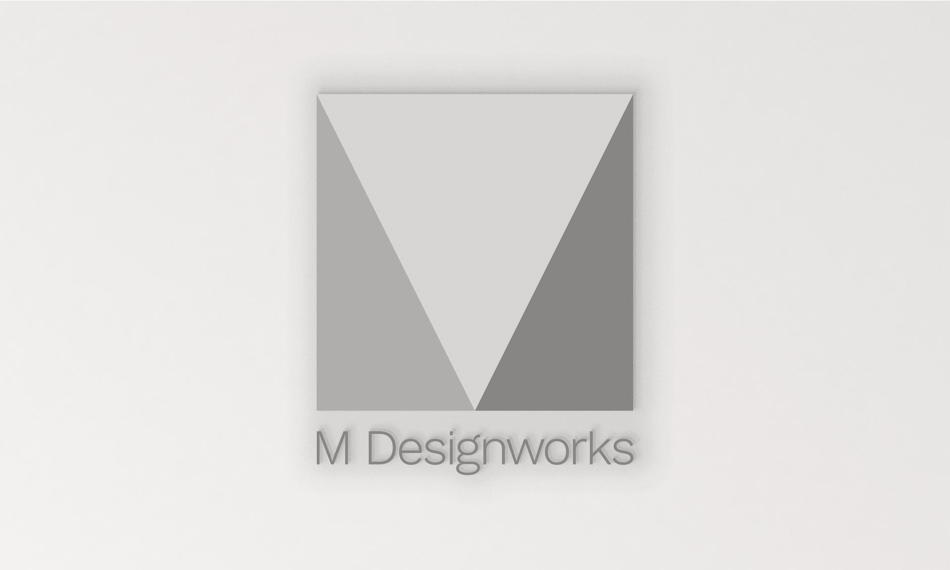 M Designworks grayscale logo